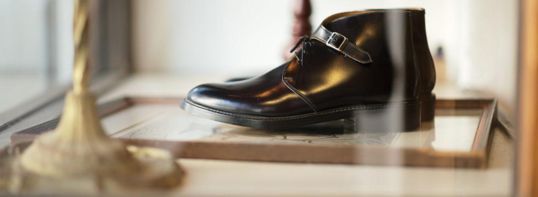 Cuervo (クエルボ) Derringer Cordovan(デリンジャー コードバン) Shell Cordovan シェルコードバンレザー Goodyear Welt Process  Double Leather Sole Chukka Boots チャッカブーツ  BLACK(ブラック・BLK) MADE IN JAPAN(日本製) 2020のイメージ
