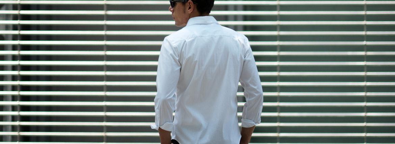 Cuervo (クエルボ) Sartoria Collection (サルトリア コレクション) Pier(ピエル) STRETCH COTTON ストレッチコットン シャツ WHITE(ホワイト) MADE IN ITALY (イタリア製) 2020のイメージ