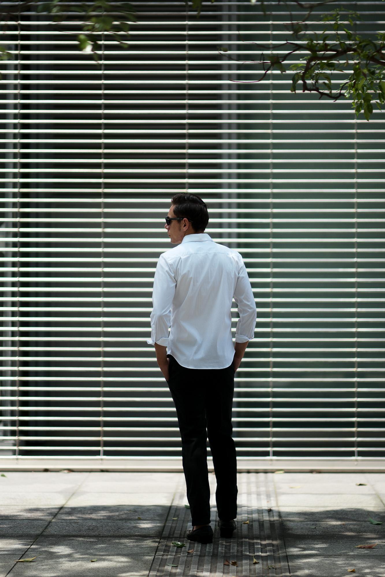 Cuervo (クエルボ) Sartoria Collection (サルトリア コレクション) Pier(ピエル) STRETCH COTTON ストレッチコットン シャツ WHITE(ホワイト) MADE IN ITALY (イタリア製) 2020 イタリアシャツ 愛知 名古屋 altoediritto アルトエデリット