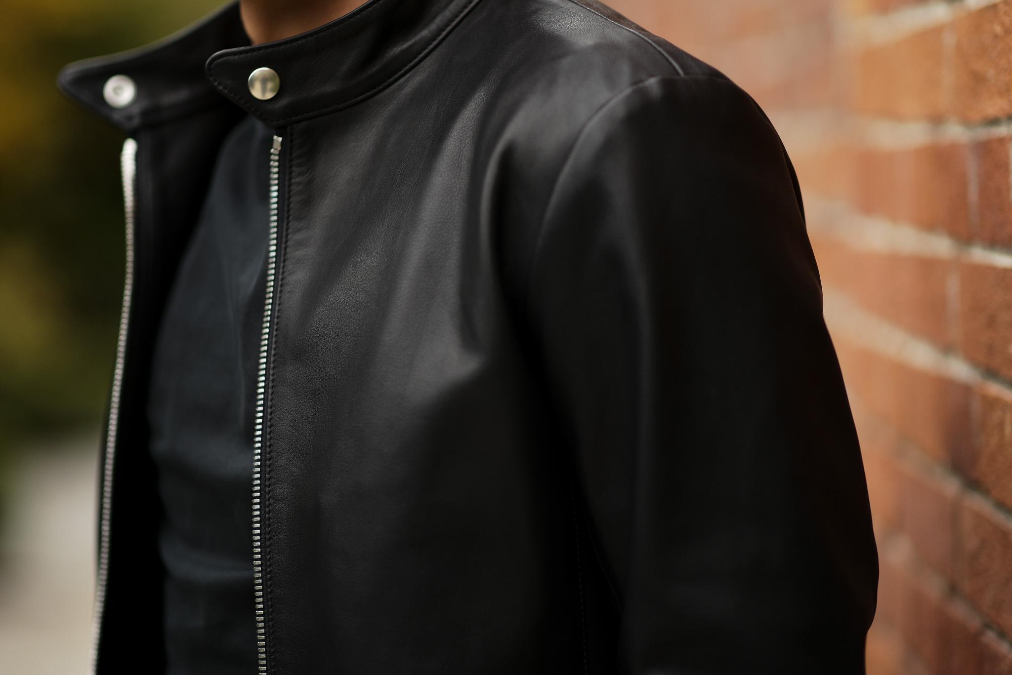 cuervo bopoha (クエルボ ヴァローナ) RICHARD (リチャード) NAKED SOFT COW LEATHER (ネイキッドソフトカウレザー) シングル ライダース ジャケット BLACK (ブラック) MADE IN JAPAN (日本製) 2020 春夏新作 cuervobopoha 愛知 名古屋 altoediritto アルトエデリット