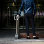 cuervo bopoha (クエルボ ヴァローナ) Sartoria Collection (サルトリア コレクション) Brad (ブラッド) WASHABLE 2WAY SUPER COMFORT NYLON ウォッシャブル ストレッチ ナイロン スラックス NAVY (ネイビー) MADE IN JAPAN (日本製) 2020 春夏 【ご予約受付中】のイメージ