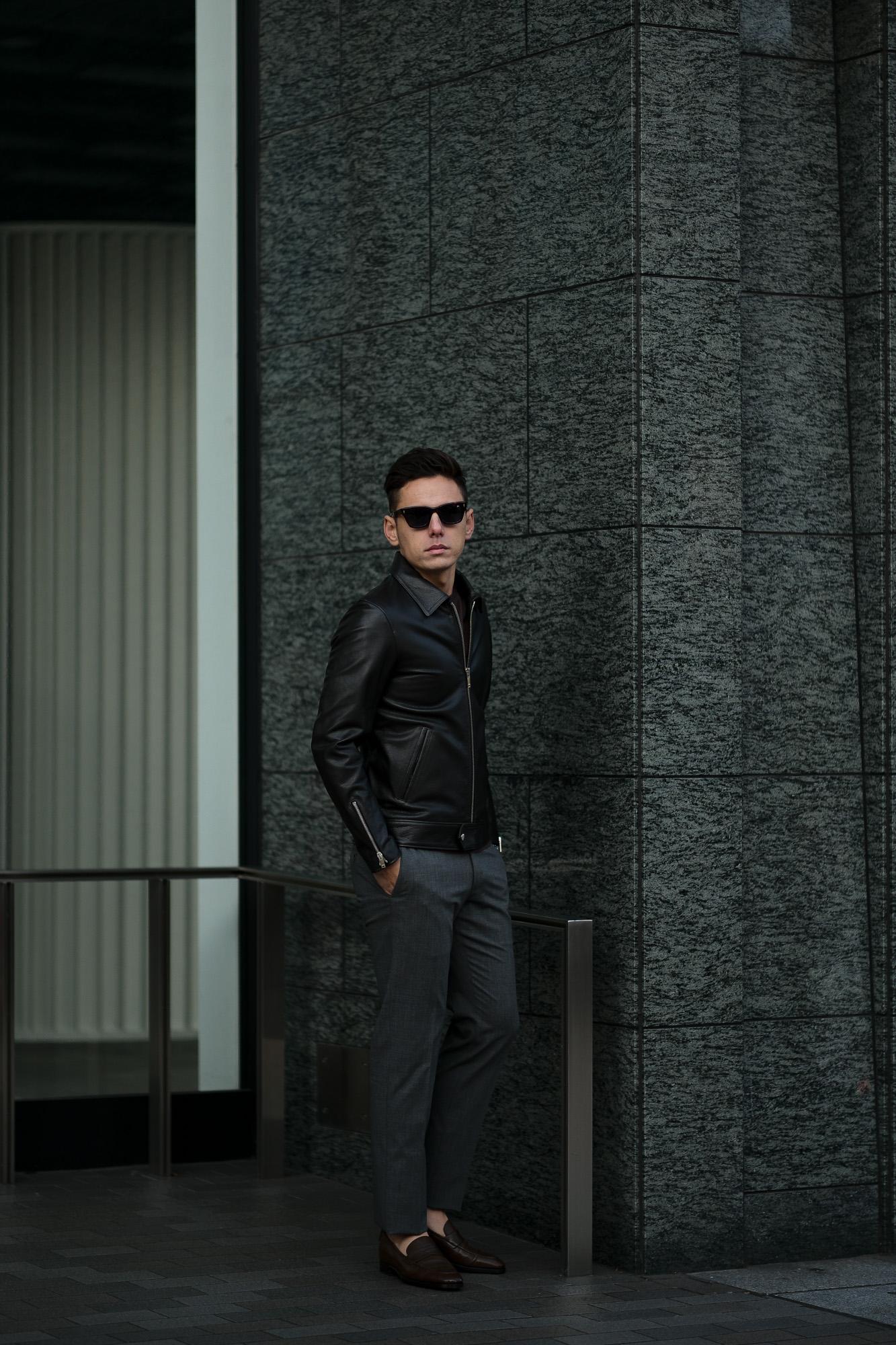 Cuervo (クエルボ) Satisfaction Leather Collection (サティスファクション レザー コレクション) TOM (トム) BUFFALO LEATHER (バッファロー レザー) シングル ライダース ジャケット BROWN (ブラウン) MADE IN JAPAN (日本製) 2020 春夏 クエルボ レザージャケット 愛知 名古屋 alto e diritto アルトエデリット セレクトショップ