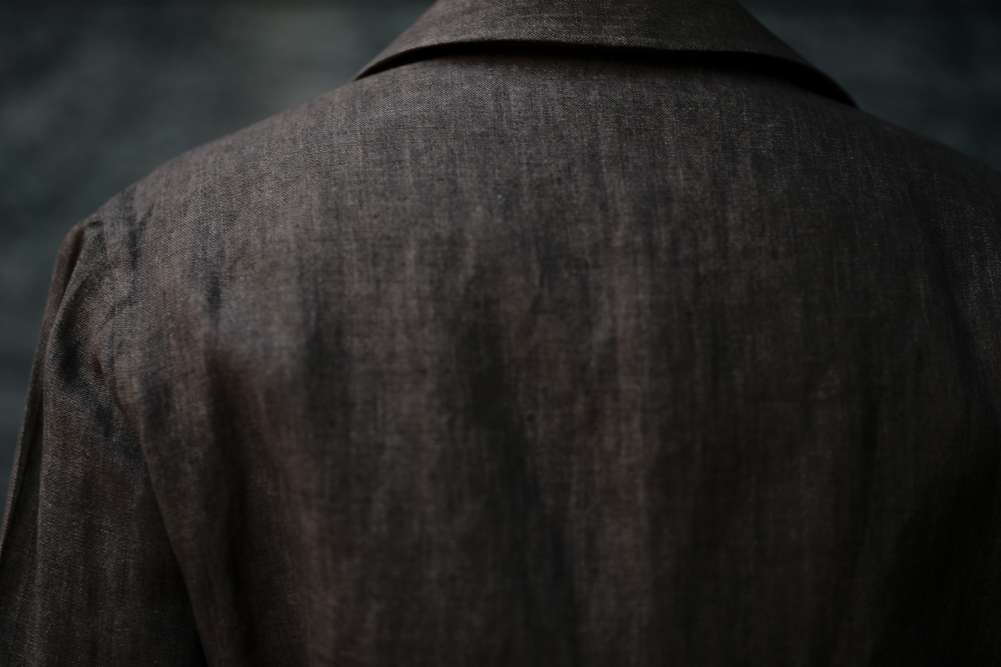 De Petrillo(デ ペトリロ) SAHARIANA (サハリアーナ) リネン サファリ ジャケット BROWN (ブラウン・312) Made in italy (イタリア製) 2020 春夏【ご予約受付中】 愛知 名古屋 altoediritto アルトエデリット depetrillo