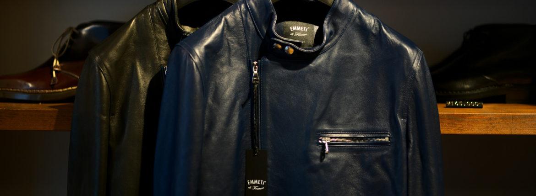 EMMETI(エンメティ) JOSEPH (ジョセフ) Lambskin Nappa Leather ラムナッパ レザー ダブル ライダース ジャケット NERO (ブラック) , BLU INDIC (ブルーインディゴ) Made in italy (イタリア製) 2020 春夏新作のイメージ