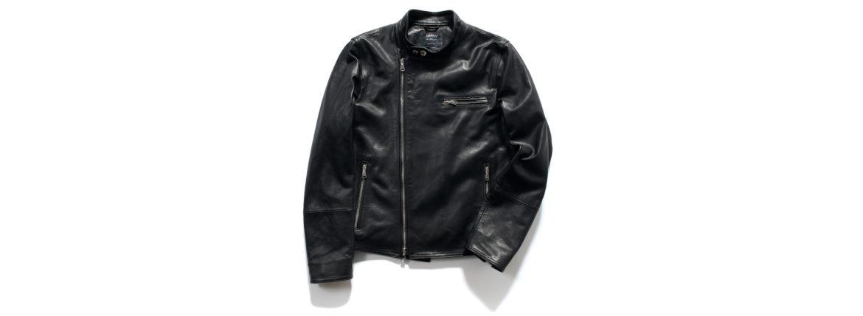 EMMETI(エンメティ) JOSEPH (ジョセフ) Lambskin Nappa Leather ラムナッパ レザー ダブル ライダース ジャケット NERO (ブラック) Made in italy (イタリア製) 2020 春夏新作 【第2便ご予約受付中】【2020年4月下旬入荷分】のイメージ