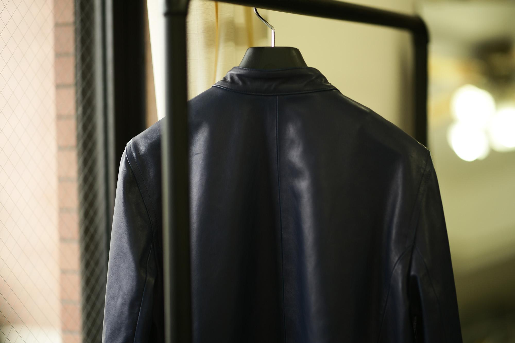 """EMMETI /// """"JOSEPH"""" Nappa Leather DOUBLE RIDERS NERO,BLUE 2020SS エンメティ ジョセフ ナッパレザー ダブルライダース シングルライダース ブラック ブルー 愛知 名古屋 altoediritto アルトエデリット 44 46 48 50 52 54"""