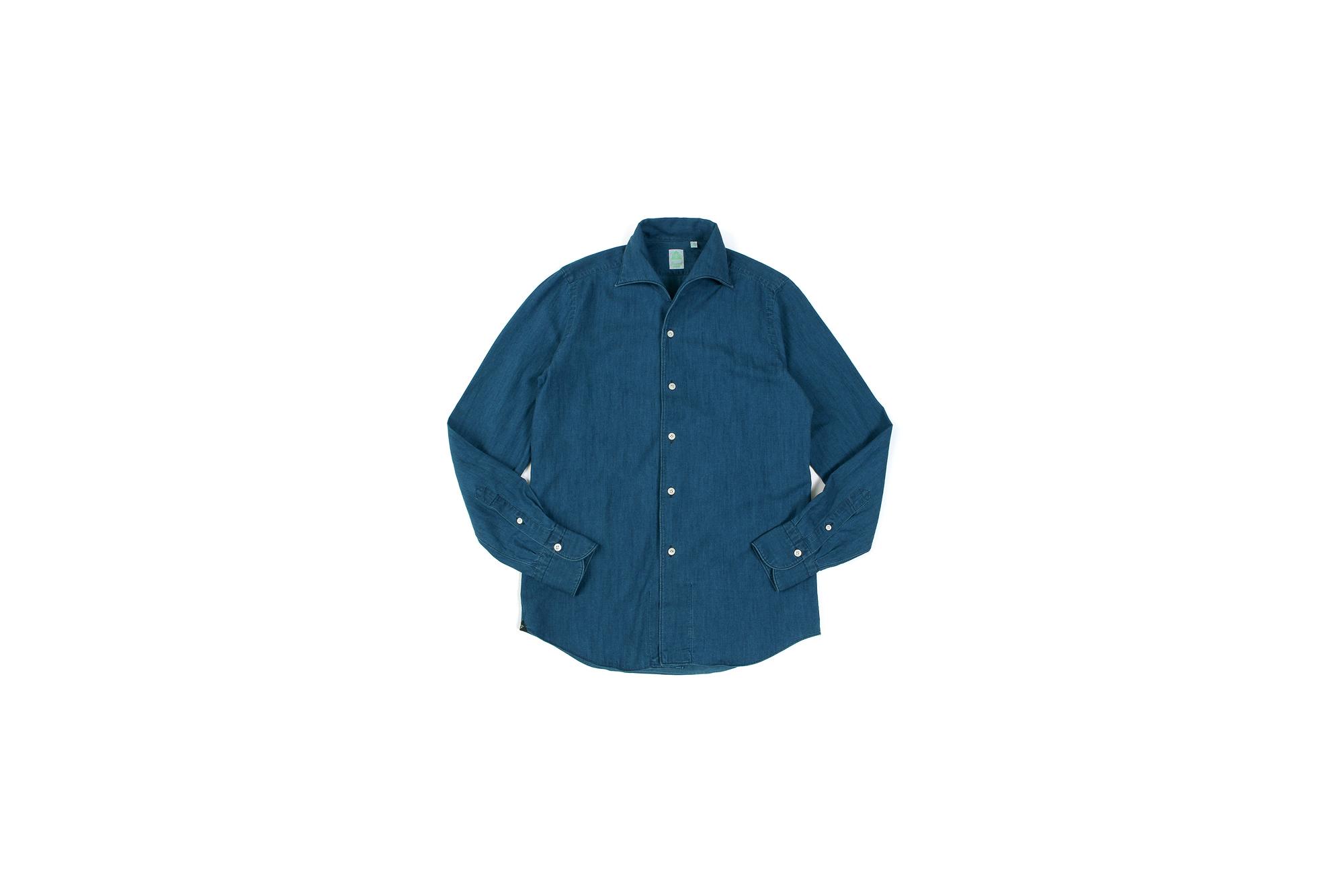 Finamore (フィナモレ) SEUL ITALIAN COLOR DENIM SHIRTS デニム ワンピースカラー シャツ BLEACH (ブリーチ・01) made in italy (イタリア製) 2020 春夏新作 愛知 名古屋 altoediritto アルトエデリット デニムシャツ