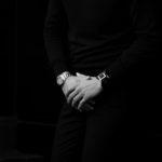 FIXER(フィクサー) CROCODILE LEATHER BRACELET 925 STERLING SILVER(925 スターリングシルバー) クロコダイル レザー ブレスレット BLACK (ブラック) 2020 【ご予約開始】のイメージ