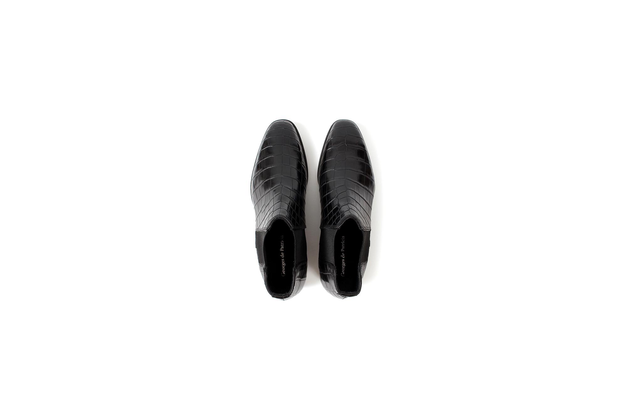Georges de Patricia(ジョルジュ ド パトリシア) Diablo Crocodile (ディアブロ クロコダイル) 925 STERLING SILVER (925 スターリングシルバー) Crocodile クロコダイル エキゾチックレザー サイドゴアブーツ NOIR (ブラック)  2020【Special Boots】 アルトエデリット ジョルジュドパトリシア ブーツ 超絶ブーツ ランボルギーニ ディアブロ lamborghini
