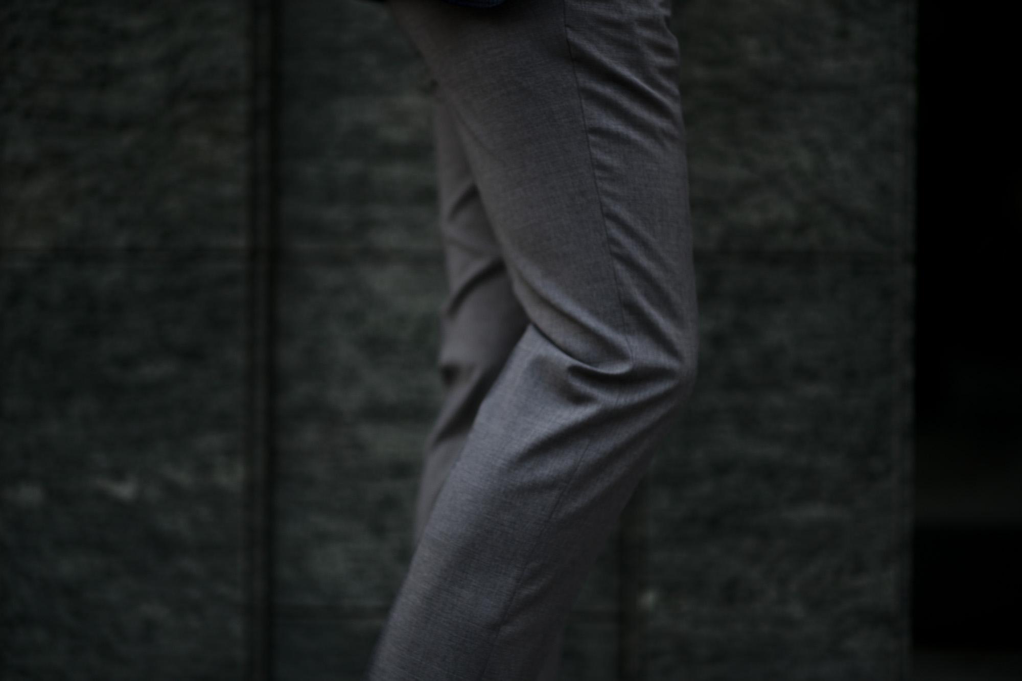 INCOTEX (インコテックス) N35 SLIM FIT (1NT035) SUPER 100'S YARN DYED TROPICAL トロピカルウール サマーウール スラックス GRAY (グレー・910) 2020 春夏新作 愛知 名古屋 altoediritto アルトエデリット グレスラ スラックス コーディネート