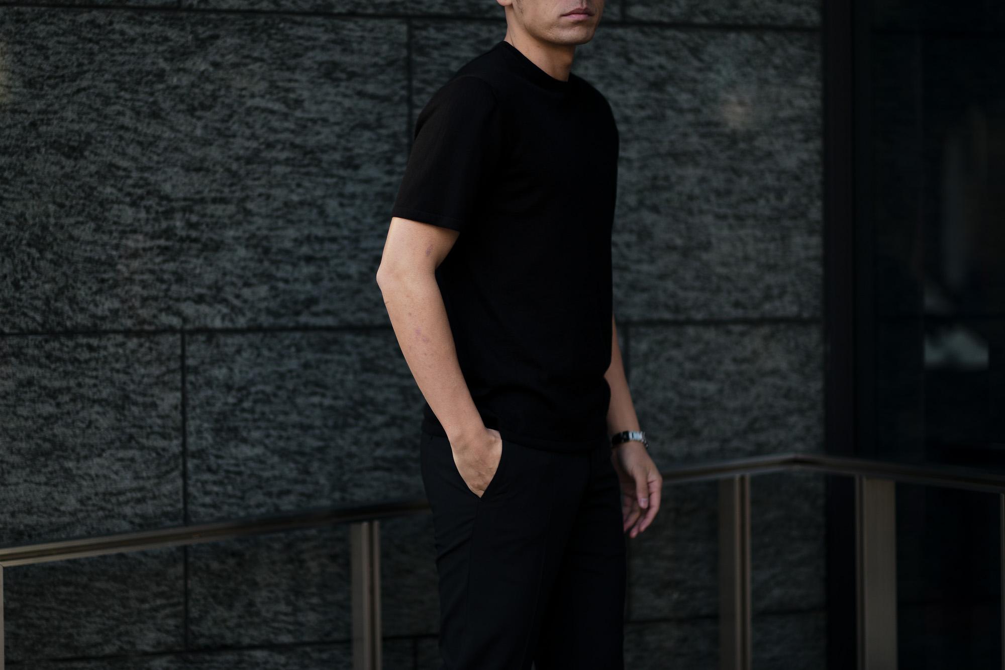 """MANRICO CASHMERE """"Cashmere 100"""" T-Shirts M110 0000 BLACK(ブラック),SNOW WHITE(スノーホワイト),DRESS BLUES(ドレスブルー),ROYAL BLUE(ロイヤルブルー),SABLE(グレージュ),GREY STONE(ダークグレー),AZTEC(ブラウン),CAMEL(キャメル),KOMBU GREEN(グリーン),YELLOW(イエロー),GRENADINE(オレンジ),HIGH RISK RED(ハイリスクレッド) MADE IN ITALY(イタリア製) 2020AW"""