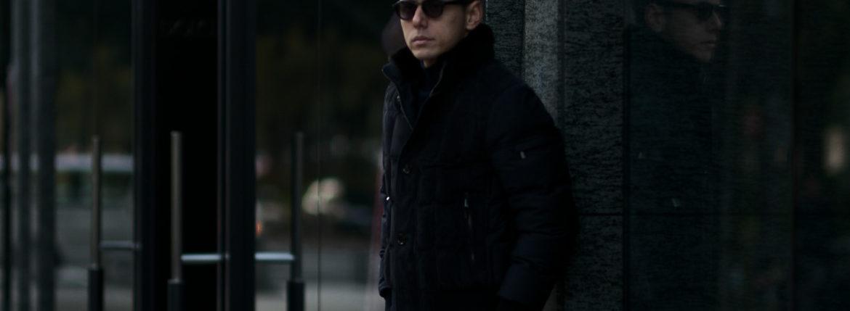 MOORER (ムーレー) AGON (アゴン) スエード ウールカシミア ボンバー ダウンジャケット NERO(ブラック・08) Made in italy (イタリア製) 2020 秋冬 【ご予約受付中】 愛知 名古屋 altoediritto アルトエデリット ダウンジャケット