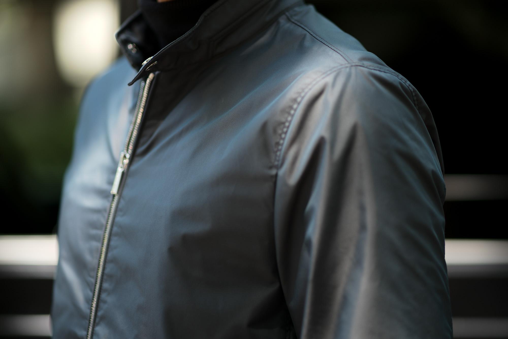 MOORER(ムーレー) VANGI-KM1(バンジー KM1) 258-11827 ナイロン シングル ライダースジャケット NERO(ブラック・08),MARMOTA(ブラウン・33),MARMO(グレージュ・32)  Made in italy (イタリア製)  2020春夏 【ご予約受付中】愛知 名古屋 altoediritto アルトエデリット