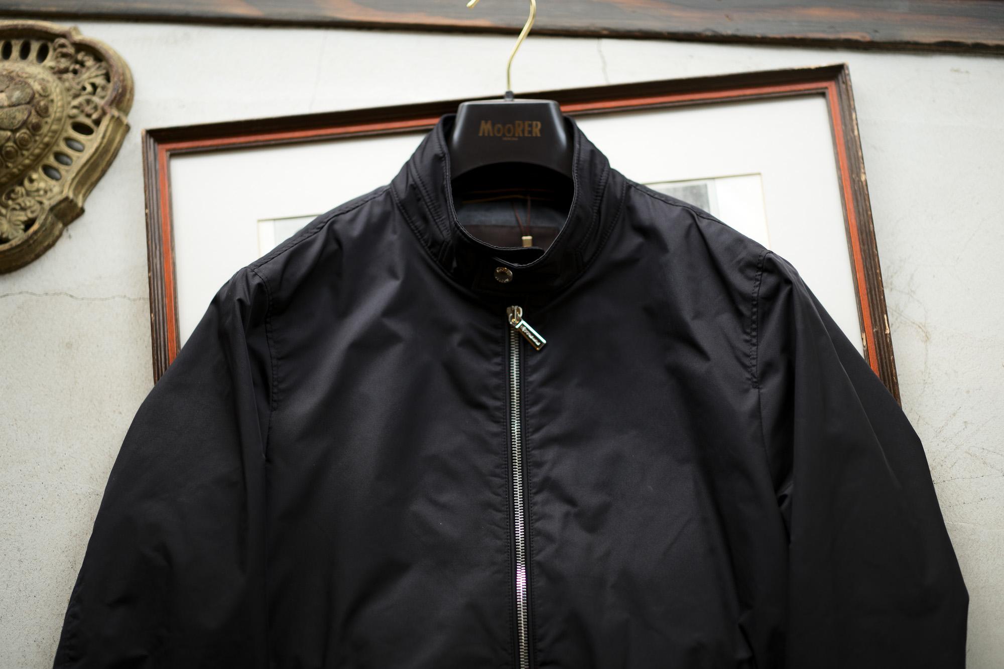 MOORER(ムーレー) VANGI-KM1(バンジー KM1) ナイロン シングル ライダースジャケット NERO(ブラック・08) Made in italy (イタリア製)  2020春夏新作 【入荷しました】【フリー分発売開始】 愛知 名古屋 altoediritto アルトエデリット