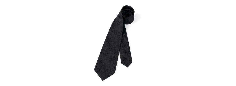 STEFANO RICCI (ステファノリッチ) PAISLEY TIE (ペイズリータイ) シルク ジャガード ペイズリー ネクタイ BLACK (ブラック) Made in italy (イタリア製) 2020 春夏新作のイメージ