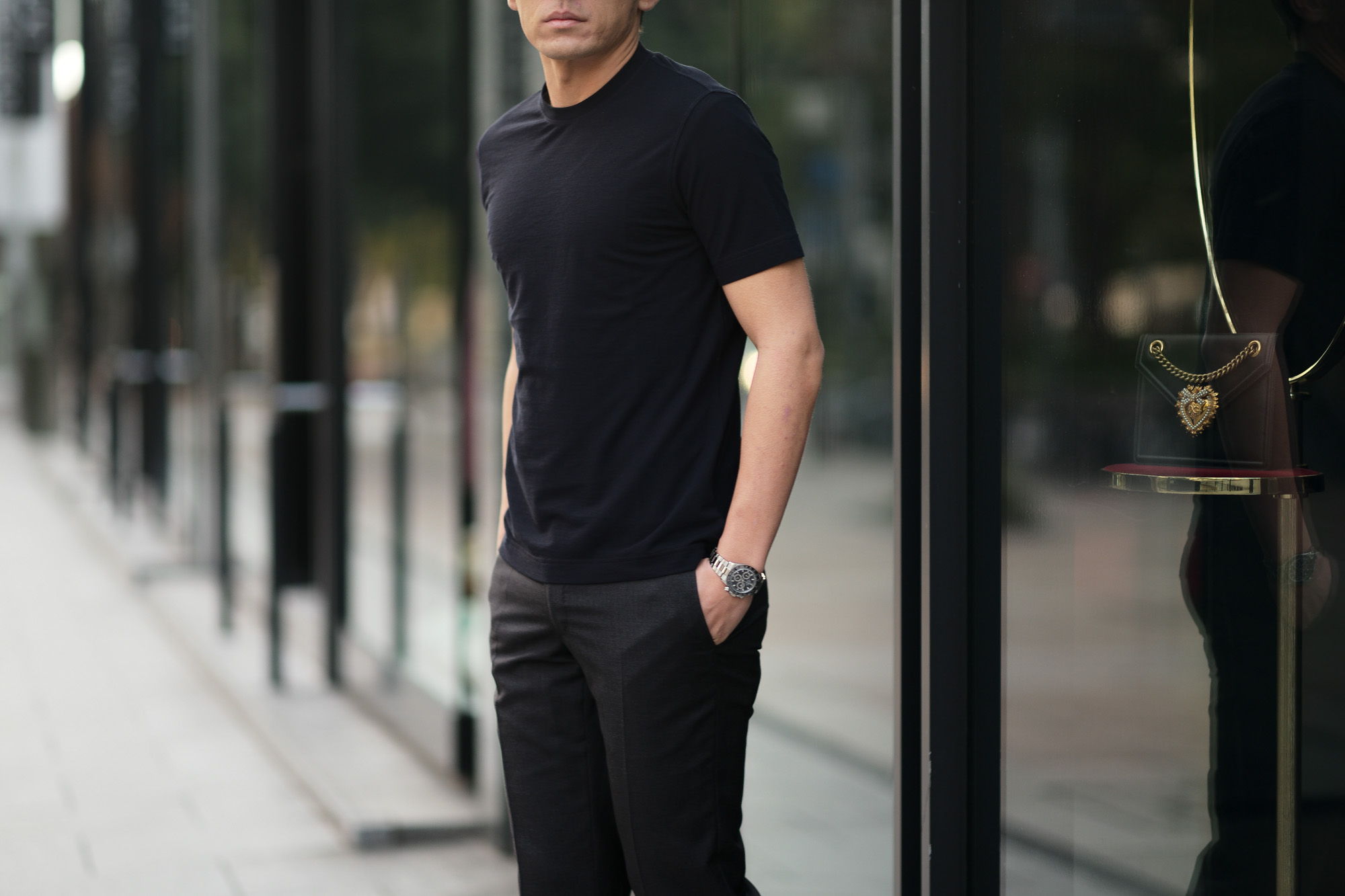 ZANONE(ザノーネ) Crew Neck T-shirt (クルーネックTシャツ) ice cotton アイスコットン Tシャツ NAVY (ネイビー・Z0542) MADE IN ITALY(イタリア製) 2020 春夏 【ご予約受付中】愛知 名古屋 altoediritto アルトエデリット tee 夏Tシャツ