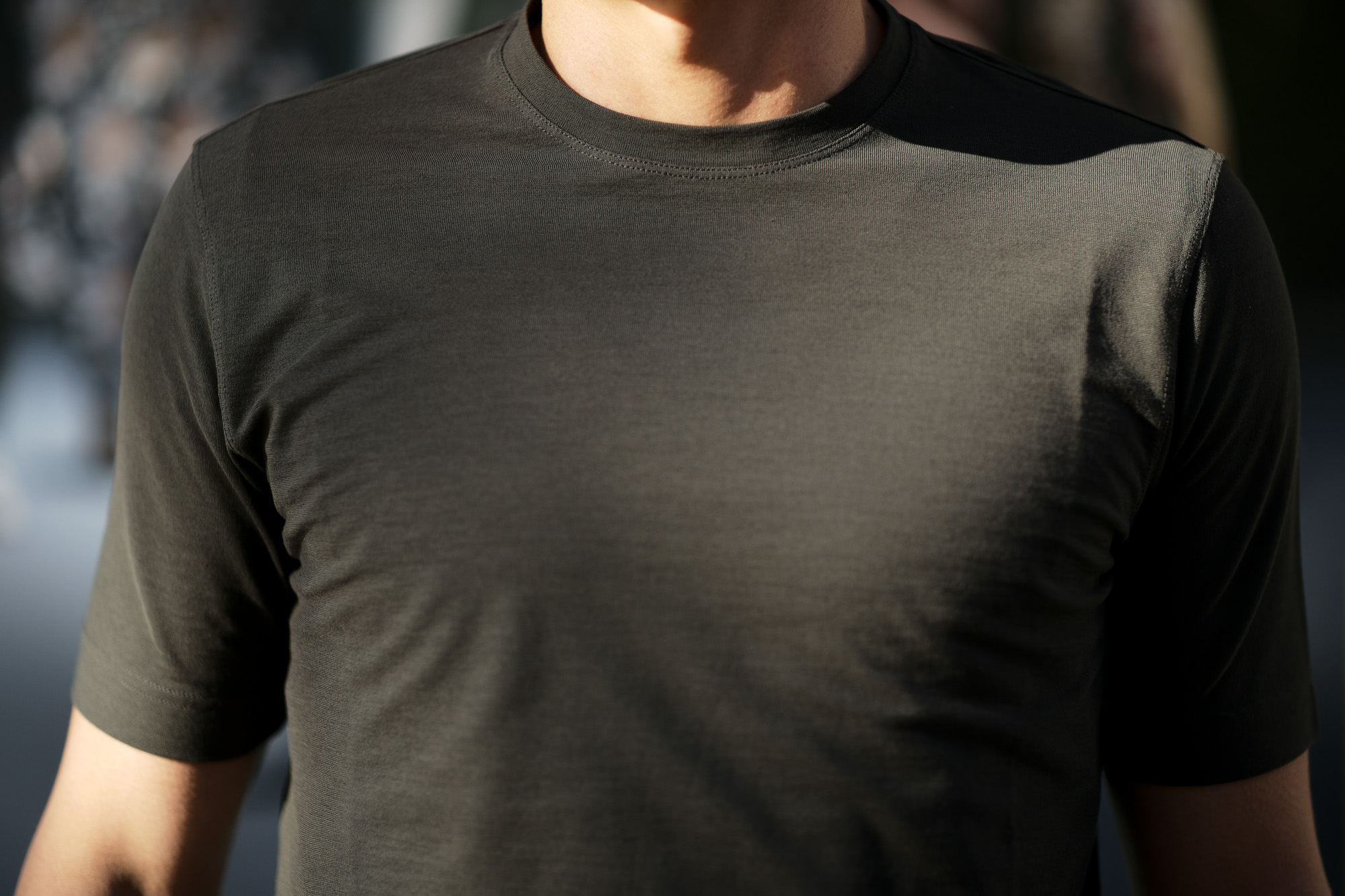 ZANONE(ザノーネ) Crew Neck T-shirt (クルーネックTシャツ) ice cotton アイスコットン Tシャツ OLIVE (オリーブ・Z0049) MADE IN ITALY(イタリア製) 2020 春夏 【ご予約受付中】愛知 名古屋 altoediritto アルトエデリット tee 夏Tシャツ