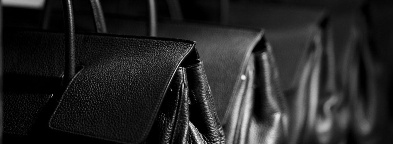 ACATE(アカーテ)OSTRO-M(オストロ-M) Montblanc leather(モンブランレザー) トートバック レザーバック NERO(ネロ) MADE IN ITALY(イタリア製) 2020 春夏新作【第1便第2便入荷しました】【フリー分発売開始】愛知 名古屋 altoediritto アルトエデリット トートバック