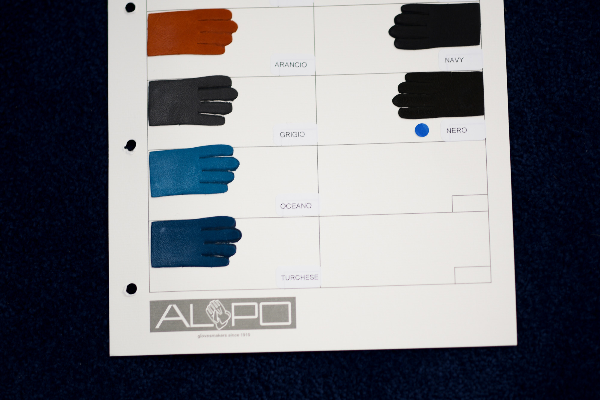 ALPO / アルポ 2020 秋冬 メイン 展示会 レザーグローブ Nappa Leather ナッパレザー COGNAC ミディアムブラウン CONER ダークブラウン NERO ブラック 6 1/2 7 7 1/2 8 8 1/2 愛知 名古屋 Alto e Diritto アルトエデリット