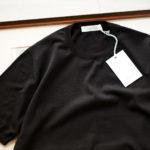Cruciani(クルチアーニ) 33G Knit T-shirt 33ゲージ コットン ニット Tシャツ BLACK (ブラック・Z0048)  made in italy (イタリア製) 2020 春夏新作 【入荷しました】【フリー分発売開始】のイメージ