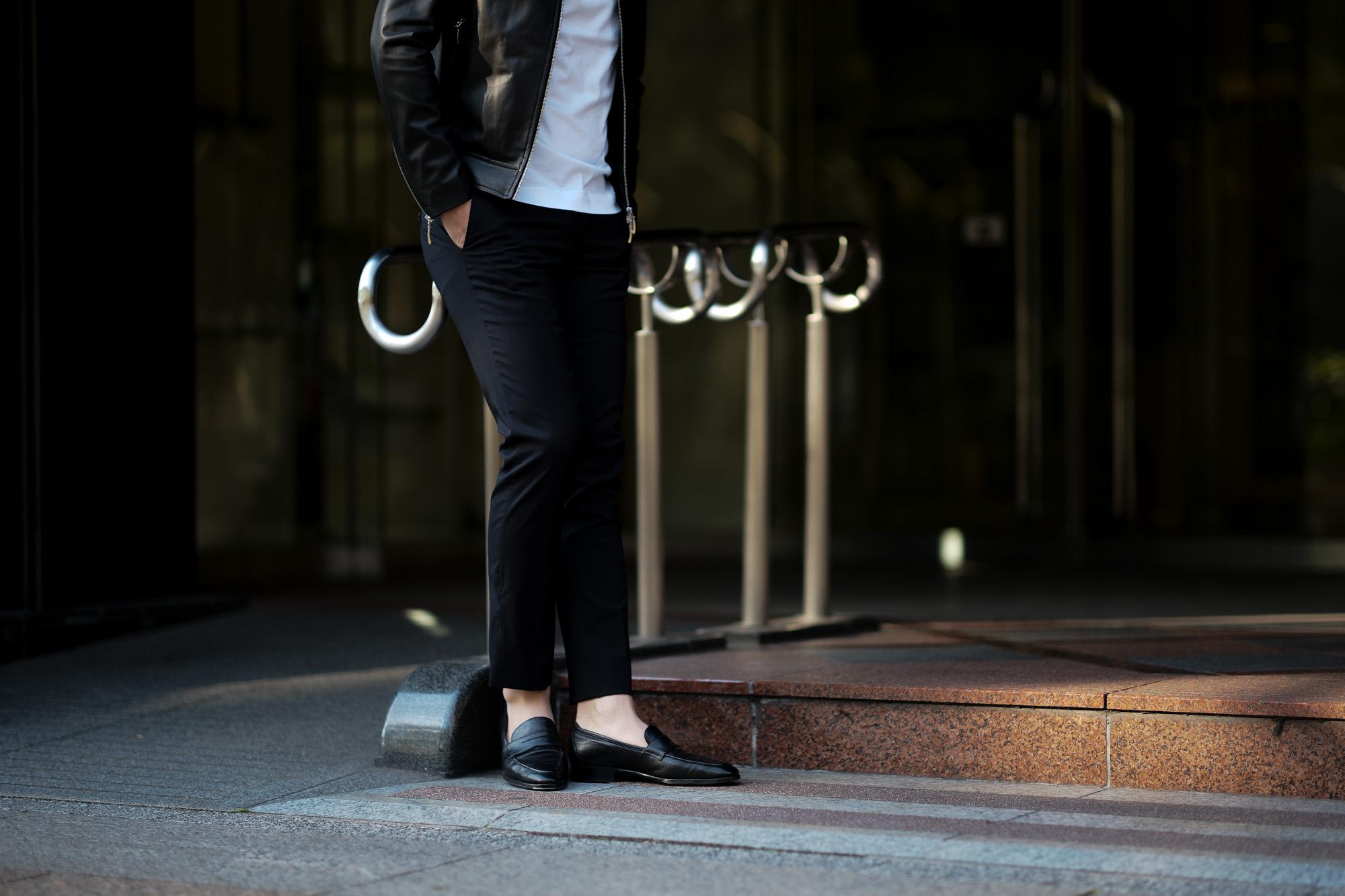 cuervo bopoha (クエルボ ヴァローナ) Sartoria Collection (サルトリア コレクション) Brad (ブラッド) Super 120's WASHABLE TROPICAL WOOL ウォッシャブル ストレッチ トロピカルウール サマーウール スラックス BLACK (ブラック) MADE IN JAPAN (日本製) 2020 春夏 愛知 名古屋 altoediritto アルトエデリット