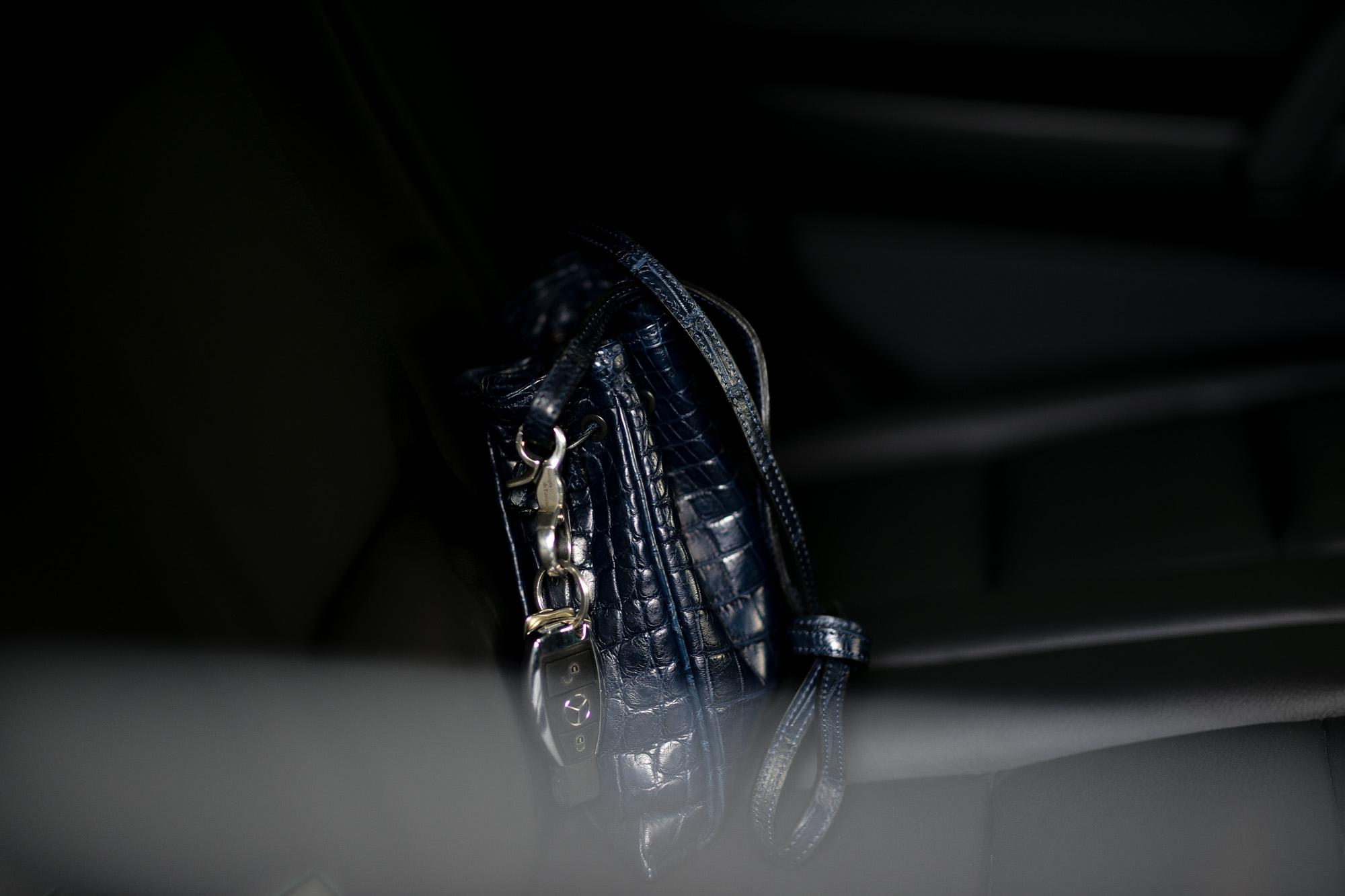 cuervo bopoha(クエルボ ヴァローナ) FLOYD(フロイド) Crocodile Leather(クロコダイルレザー) レザードローストリングバック 巾着 NAVY (ネイビー) Made in Japan(日本製) 2020【Special Model】愛知 名古屋 altoediritto アルトエデリット