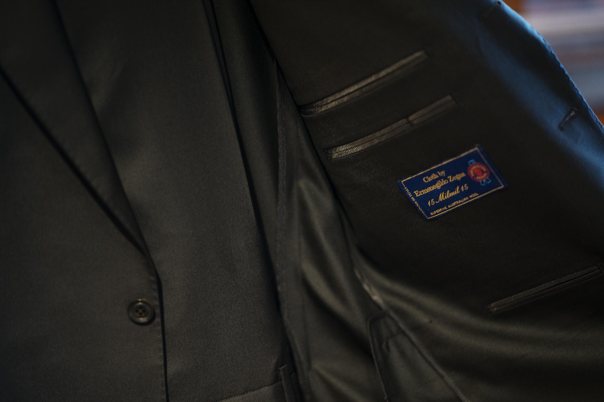 cuervo bopoha(クエルボ ヴァローナ) Sartoria Collection (サルトリア コレクション) Rooster (ルースター) Ermenegildo Zegna エルメネジルド・ゼニア 15 Milmil 15 15ミルミル15 スーツ BLACK (ブラック) MADE IN JAPAN (日本製) 2020 【オーダー分入荷】 愛知 名古屋 altoediritto アルトエデリット 愛知 名古屋 altoediritto アルトエデリット オーダースーツ ゼニアスーツ