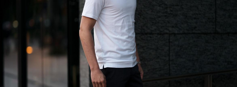 FEDELI(フェデーリ) Crew Neck T-shirt (クルーネック Tシャツ) ギザコットン Tシャツ WHITE (ホワイト・41) made in italy (イタリア製) 2020 春夏新作のイメージ