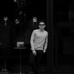 lucien pellat-finet(ルシアン ペラフィネ) Cashmere Crew Neck Sweater カシミア クルーネック セーター FELT GREY (グレー) made in scotland (スコットランド製) 2020 春夏のイメージ