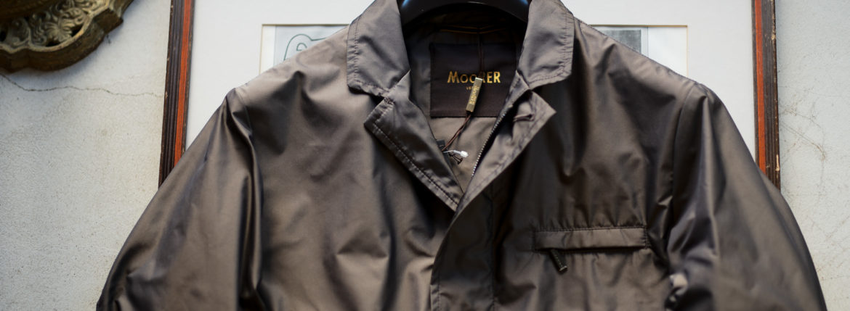 MOORERムーレー GHIBERTI-KM1 ギベルティ ナイロン シングル ジャケット MARMOTTA ブラウン イタリア製 2020 春夏新作 愛知 名古屋 altoediritto アルトエデリット