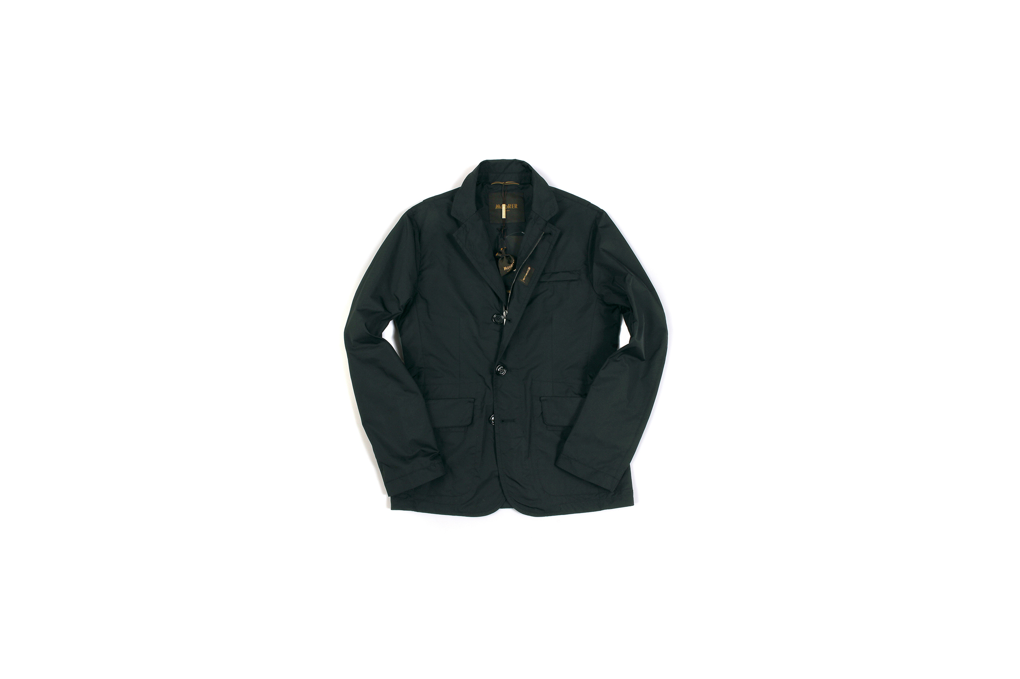 MOORER(ムーレー) GHIBERTI-KM1 (ギベルティ) ナイロン シングル ジャケット NERO (ブラック) Made in italy (イタリア製) 2020 春夏新作