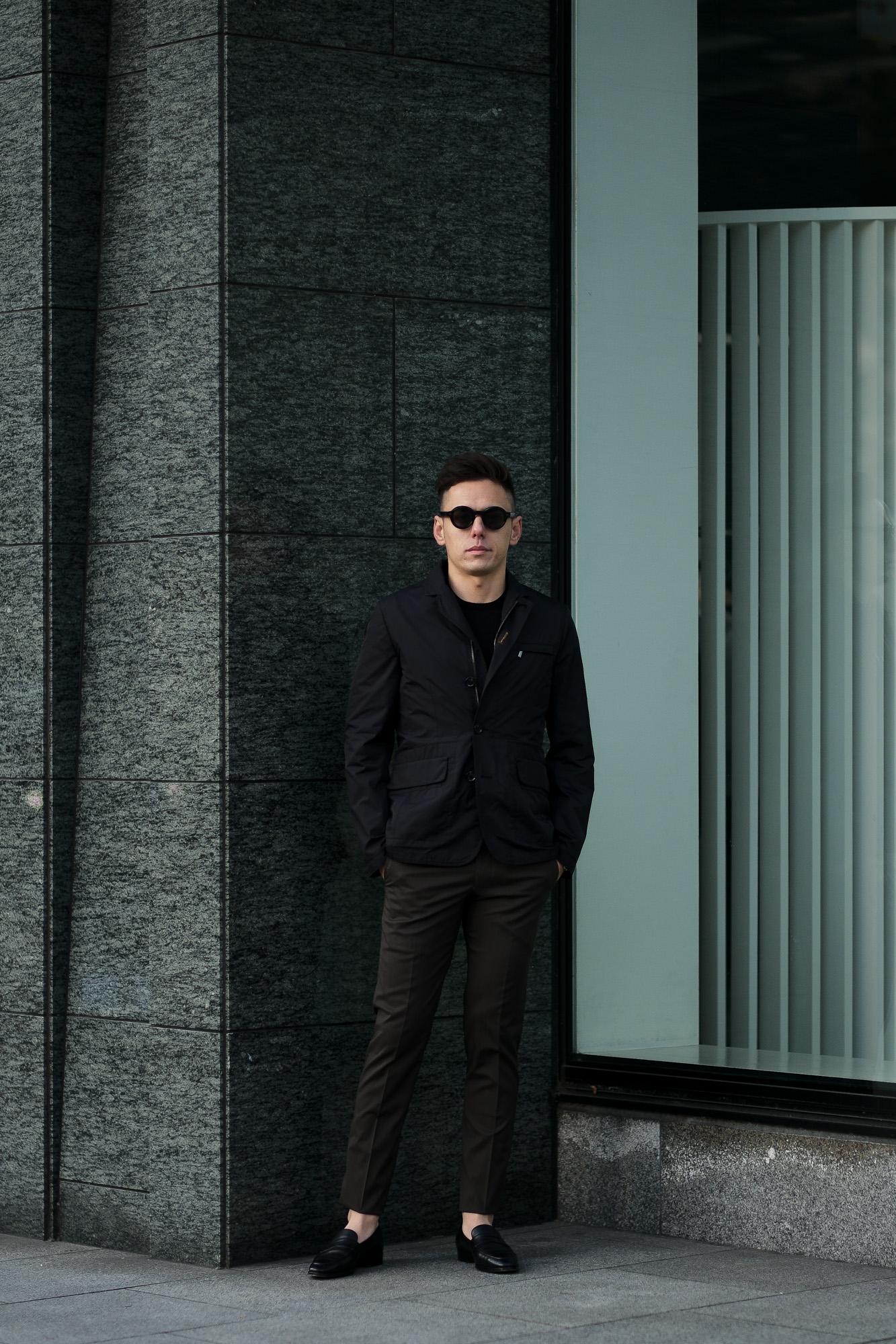 MOORER(ムーレー) GHIBERTI-KM1 (ギベルティ) ナイロン シングル ジャケット NERO (ブラック) Made in italy (イタリア製) 2020 春夏新作 愛知 名古屋 altoediritto アルトエデリット