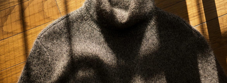 RIVORA (リヴォラ) Cashmere Mohair Silk High Neck (ハイネック セーター) カシミア モヘア シルク ニット タートルネックセーター BLACK (ブラック・010)  MADE IN JAPAN (日本製) 2020秋冬 【ご予約受付中】のイメージ