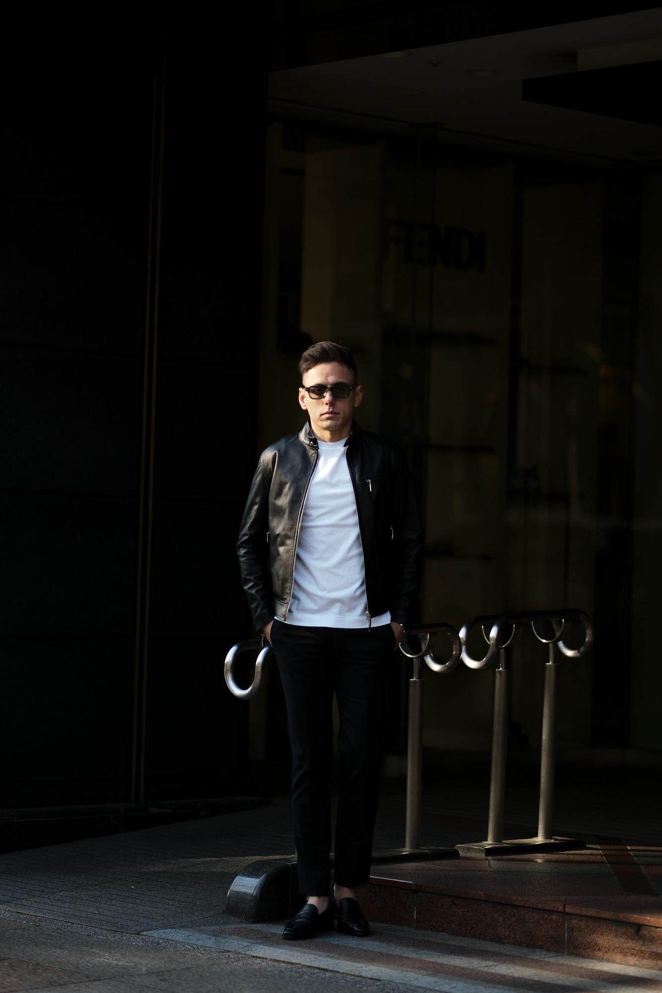 SILENCE(サイレンス) Single Leather Jacket (シングルレザー ジャケット) Lambskin Nappa Leather (ラムナッパ レザー) シングル ライダース ジャケット NERO (ブラック) Made in italy (イタリア製) 2020 春夏新作 【第2便ご予約受付中】【2020年5月上旬入荷分】愛知 名古屋 altoediritto アルトエデリット レザージャケット