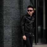SILENCE(サイレンス) Single Leather Jacket (シングルレザー ジャケット) Lambskin Nappa Leather (ラムナッパ レザー) シングル ライダース ジャケット NERO (ブラック) Made in italy (イタリア製) 2020 春夏新作 【第2便ご予約受付中】【2020年5月中旬入荷分】 愛知 名古屋 altoediritto アルトエデリット レザージャケット