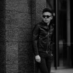 SILENCE(サイレンス) Single Leather Jacket (シングルレザー ジャケット) Lambskin Nappa Leather (ラムナッパ レザー) シングル ライダース ジャケット NERO (ブラック) Made in italy (イタリア製) 2020 春夏新作 【第2便ご予約受付中】【2020年5月上旬入荷分】のイメージ