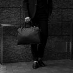 ACATE (アカーテ) AUSTRU (アウストル) Montblanc leather (モンブランレザー) ボストンバッグ NERO (ネロ) MADE IN ITALY (イタリア製) 2020 春夏新作 【入荷しました】【フリー分発売開始】のイメージ