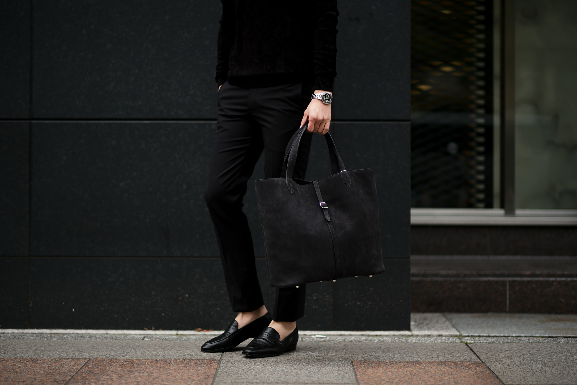 ACATE (アカーテ) KAUS (カウス) Calf Nubuck leather (カーフヌバックレザー) トートバッグ レザーバッグ NERO (ネロ) MADE IN ITALY (イタリア製) 2020 春夏新作  愛知 名古屋 altoediritto アルトエデリット