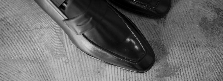 "AUBERCY // ""LUPIN"" 3565 Coin Loafer Nero 2020AW オーベルシー ルパン ヴィッテロレザー カーフレザー コインローファー ブラック ローファー ドレスシューズ 日本代理店 愛知 名古屋 altoediritto アルトエデリット"
