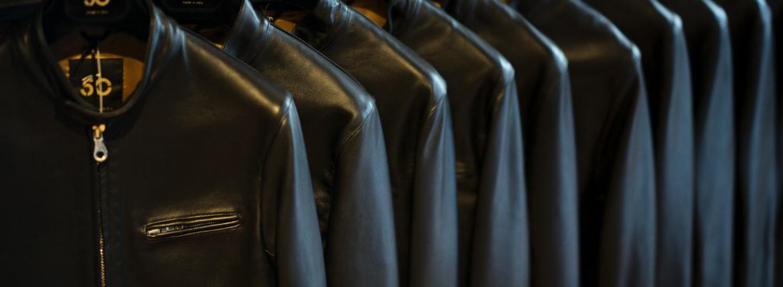 CINQUANTA(チンクアンタ) H502 STAND COLLAR RIDERS (スタンド カラー ジャケット) NAPPA LEATHER ナッパレザー シングル ライダース ジャケット BLACK GOLD (ブラック ゴールド・999) Made in italy (イタリア製) 2020 春夏新作 cinquanta チンクアンタ レザージャケット 愛知 名古屋 Alto e Diritto アルト エ デリット アルトエデリット