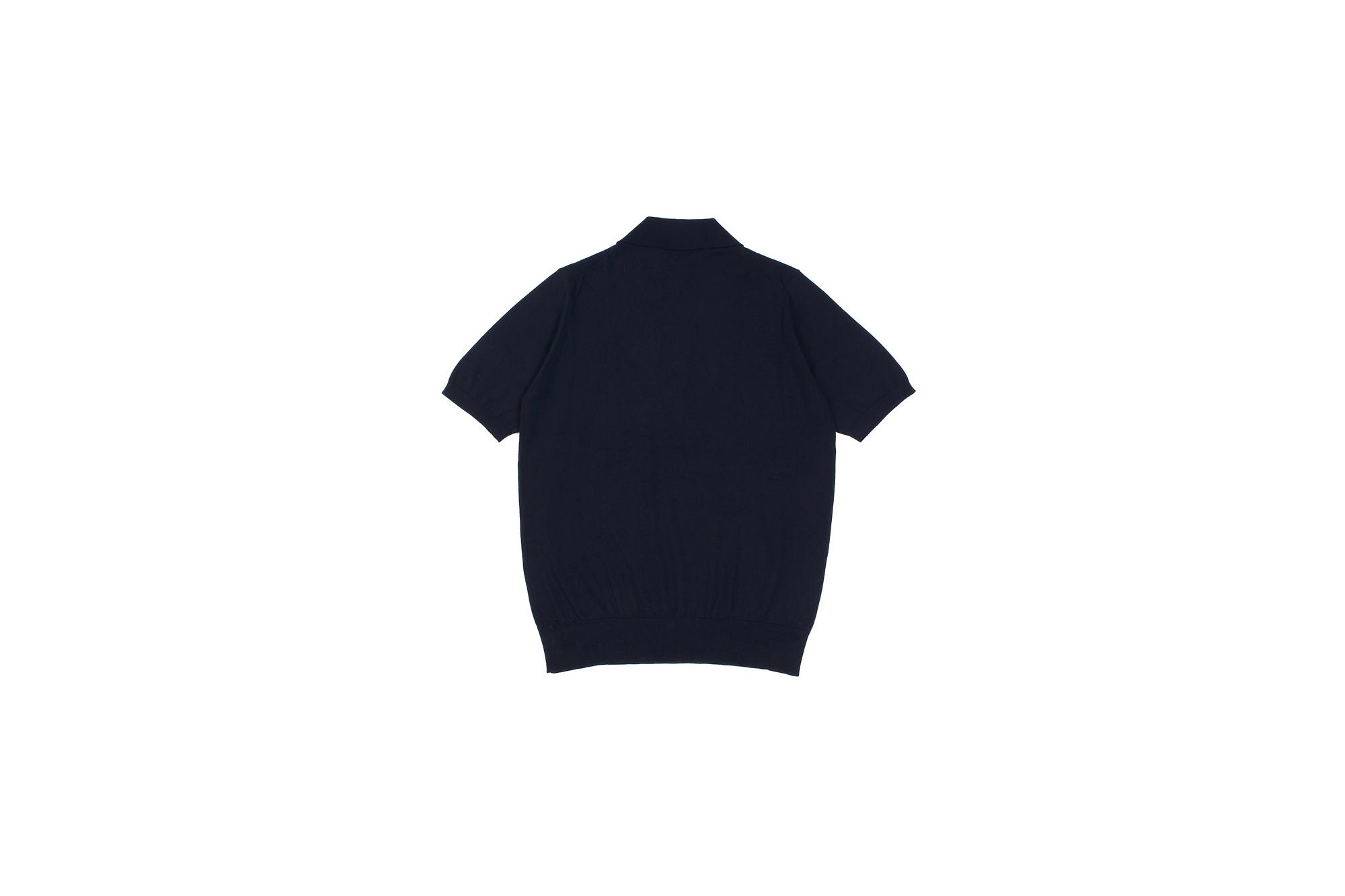 Cruciani(クルチアーニ) 33G Knit Polo Shirt 33ゲージ コットン ニット ポロシャツ NAVY (ネイビー・Z0064) made in italy (イタリア製) 2020 春夏新作 愛知 名古屋 altoediritto アルトエデリット