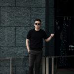 Cruciani(クルチアーニ) 33G Knit T-shirt 33ゲージ コットン ニット Tシャツ BLACK (ブラック・Z0048)  made in italy (イタリア製) 2020 春夏新作のイメージ