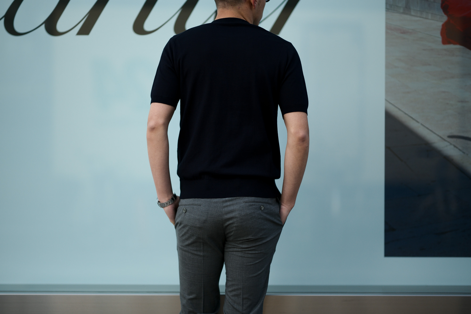 Cruciani(クルチアーニ) 33G Knit T-shirt 33ゲージ コットン ニット Tシャツ NAVY (ネイビー・Z0064)  made in italy (イタリア製) 2020 春夏新作 愛知 名古屋 altoediritto アルトエデリット ニットTEE
