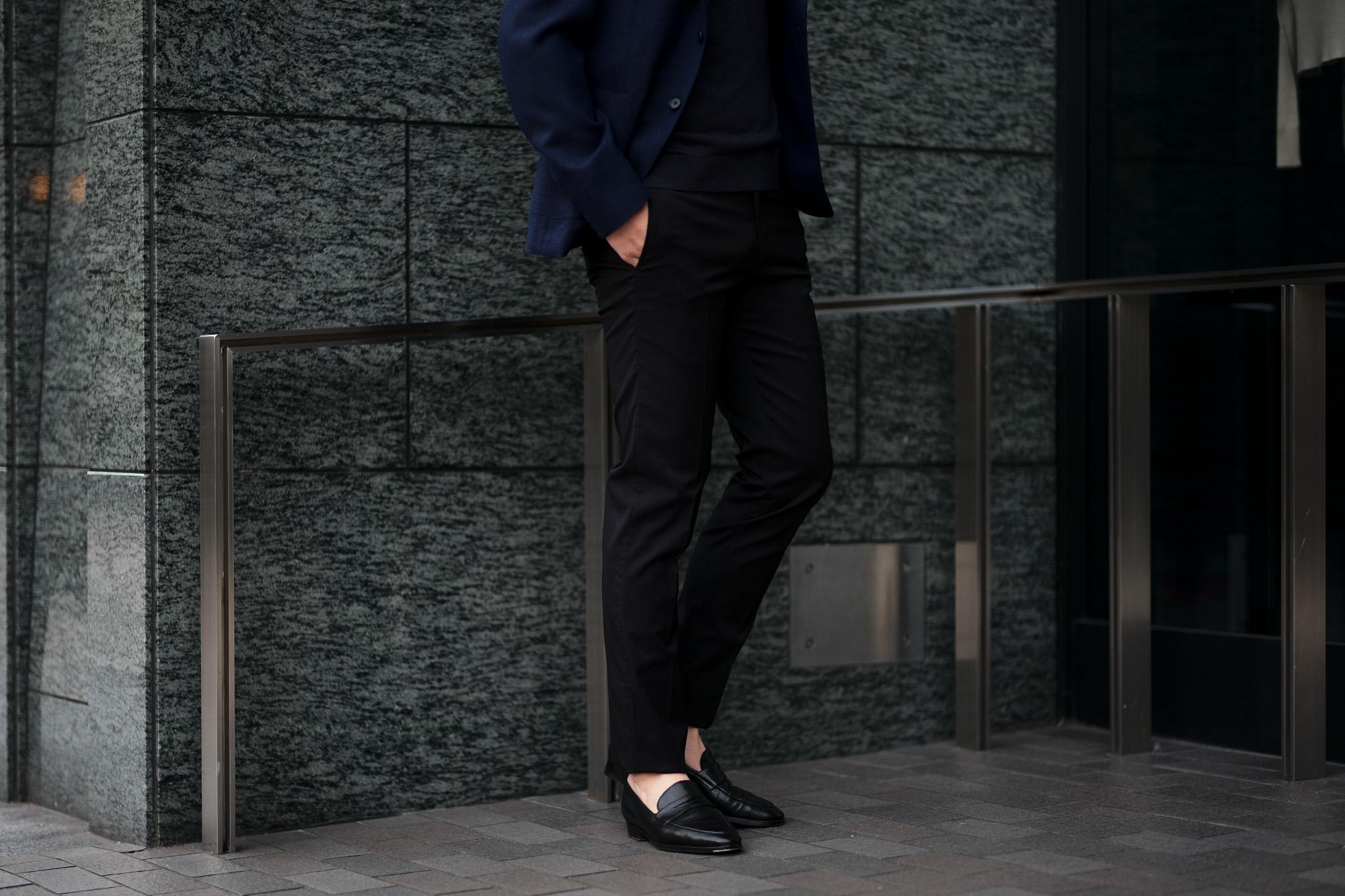 cuervo bopoha (クエルボ ヴァローナ) Sartoria Collection (サルトリア コレクション) Brad (ブラッド) Super 120's WASHABLE TROPICAL WOOL ウォッシャブル ストレッチ トロピカルウール サマーウール スラックス BLACK (ブラック) MADE IN JAPAN (日本製) 2020 春夏新作 愛知 名古屋 altoediritto アルトエデリット