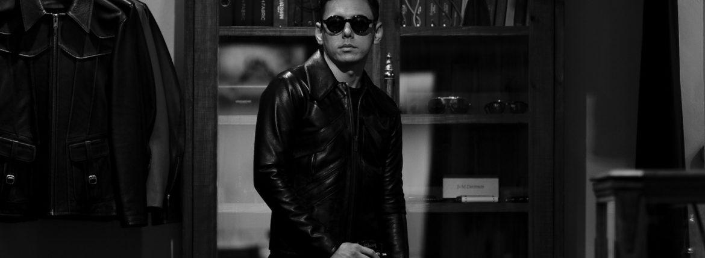 cuervo bopoha (クエルボ ヴァローナ) Satisfaction Leather Collection (サティスファクション レザー コレクション) East West (イーストウエスト) WINCHESTER (ウィンチェスター) BUFFALO LEATHER (バッファロー レザー) レザージャケット BLACK (ブラック) MADE IN JAPAN (日本製) 2020 春夏新作 【入荷しました】【フリー分発売開始】のイメージ