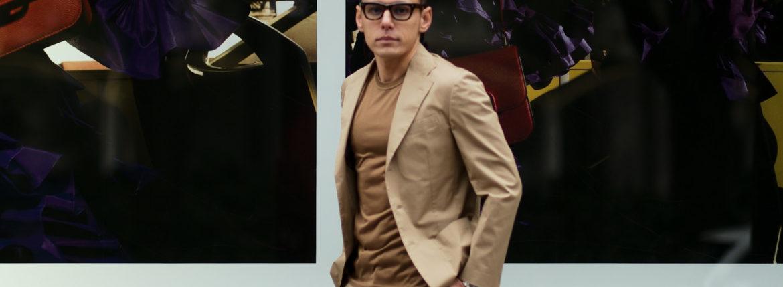 De Petrillo (デ ペトリロ) NUVOLA (ヌーボラ) ストレッチ コットン スーツ  BEIGE (ベージュ・423) Made in italy (イタリア製) 2020 春夏新作のイメージ