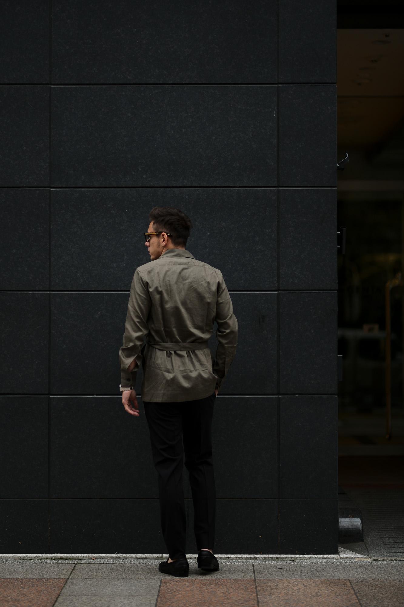 De Petrillo(デ ペトリロ) SAHARIANA (サハリアーナ) リネン サファリ ジャケット BROWN (ブラウン・312) Made in italy (イタリア製) 2020 春夏新作 愛知 名古屋 altoediritto アルトエデリット depetrillo