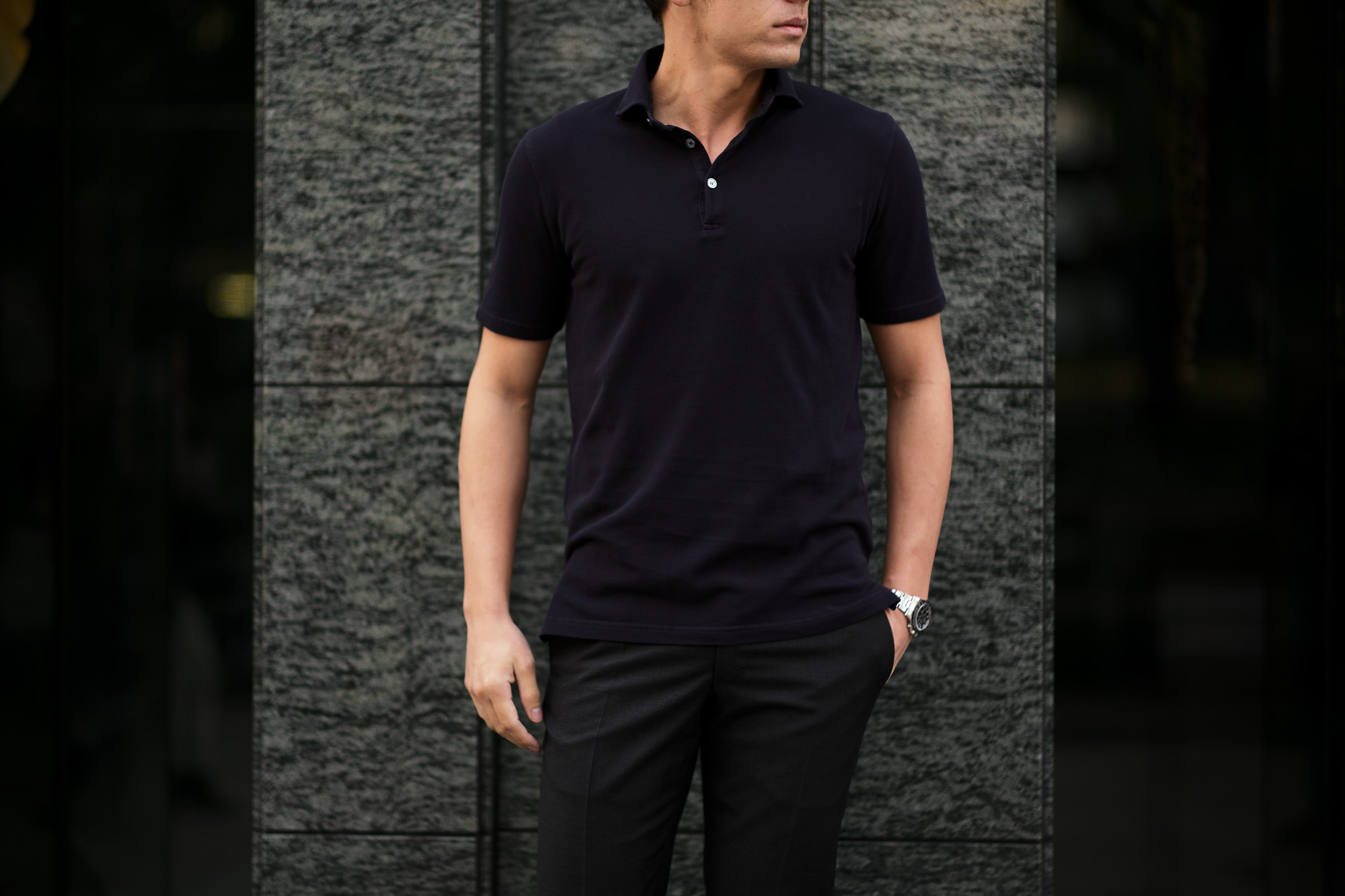 FEDELI(フェデーリ) Piquet Polo Shirt (ピケ ポロシャツ) カノコ ポロシャツ NAVY (ネイビー・626) made in italy (イタリア製)2020 春夏新作 愛知 名古屋 altoediritto アルトエデリット ポロ