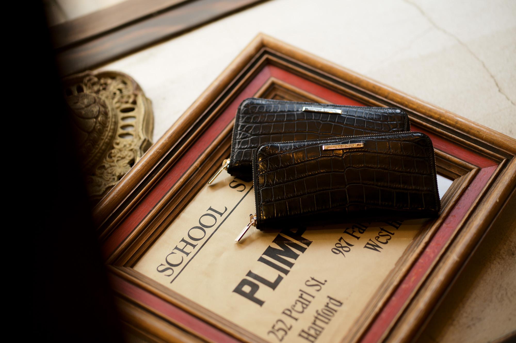 Georges de Patricia(ジョルジュ ド パトリシア) Phantom Crocodile Long (ファントム クロコダイル ロング) 925 STERLING SILVER (925 スターリングシルバー) Niloticus Crocodile ニロティカス クロコダイル エキゾチックレザー ロング ウォレット NOIR (ブラック) 2020【Special Model】【春夏新作入荷】【フリー分発売開始】ジョルジュ ド パトリシア ファントム クロコダイル ロング 925 スターリングシルバー ニロティカス クロコダイル エキゾチックレザー ロングウォレット 愛知 名古屋 altoediritto アルトエデリット 財布 長財布