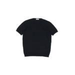 Gran Sasso (グランサッソ) Silk Knit T-shirt (シルクニット Tシャツ) SETA (シルク 100%) ショートスリーブ シルク ニット Tシャツ BLACK (ブラック・099) made in italy (イタリア製) 2020 春夏新作  【入荷しました】【フリー分発売開始】のイメージ